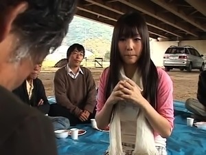 Sweet Asian teen has an old man licking and fucking her cunt