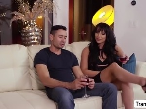 hot tgirl chanel santini gets her round ass slammed by gabriels cock