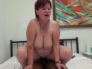 BBW mom gives  big fat cock