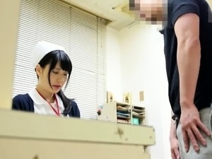 Lustful Asian nurse in uniform satisfies her need for cock