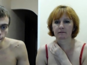 Young redhead lingerie teacher in a webcam s