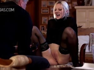 Maid ass spanked