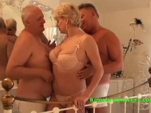 Men sucking pregnant wife tits