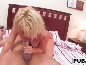 Some bedroom fun with cute Casey Cumz and Toni Ribas