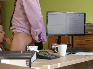 Loan4k. horny agent helps you when you're in debt