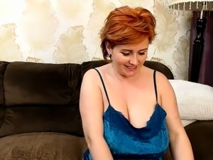 Hot busty bouncy boobs redhead rides dick