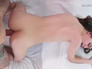 petite turkish anya krey takes enormous cock up her pink and stink