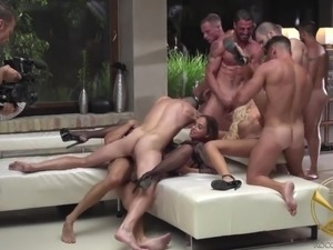 Some really wild orgy party with lusty Linda Leclair gonna be really great