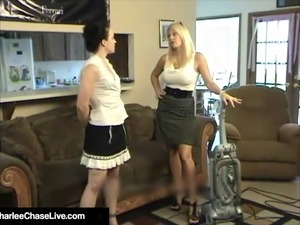 3Some With Wife Charlee Chase, Maid Cheyenne Jewel & Hubby!