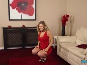 Watch Caucasian hottie Yasmin Grayce who is always ready to striptease a bit