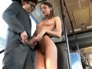 Gorgeous brunette with a perfect ass gets fucked in public