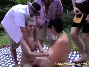 real outdoor groupsex fuck orgy