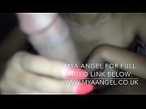 BRITISH INDIAN MYA ANGEL GIVES LANDLORD A BJ &amp_ RUBS PUSSY TO PAY RENT