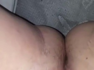 BBW masturbates with hairbrush