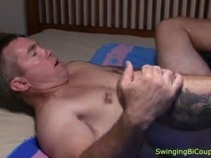 Hubby fucked with strapon