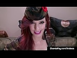 Horny Housewife Shanda Fay Shoots Her Soldier&#039_s Rifle!