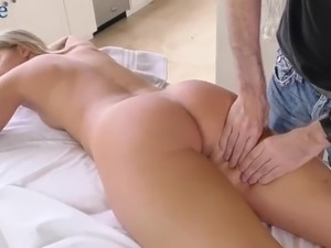 After erotic nude massage lusty Candice Dare can think only about sex