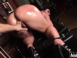 Olga enjoys jumping on a cock