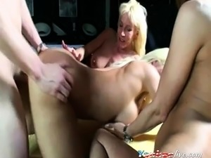 three german milfs and one lucky guy