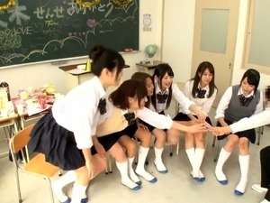 Naughty Japanese teens getting schooled in hardcore action