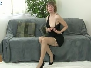 Lewd alone slender housewife with small tits Jamie Foster fingerfucks wet pussy