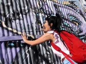 Asian Marica Hase Gives Blowjob fifteen Horny Black Dudes