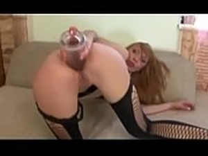 Teen redhead with braces fingers her pussy