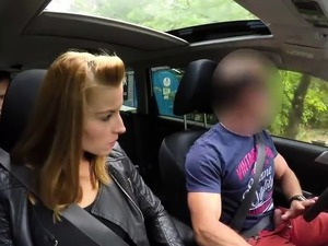 HUNT4K. Beauty fucked hard in car while BF received stack...