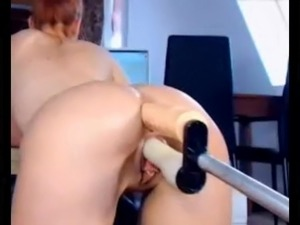 Amateur double fucking machine, fuck cunt and anal