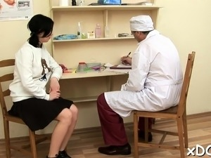 Appealing girl decided to visit her doctor