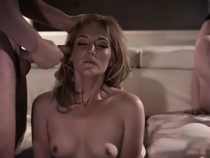 Mom caught stepson fucking with gf and joins in a 3some