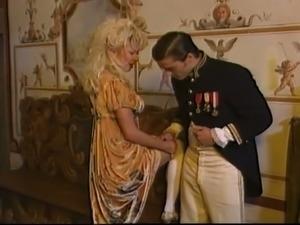 Vintage porn video showing kinky women sucking dicks