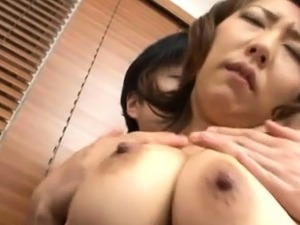 Heavenly maid Anna Hoshi with large tits gets pounded