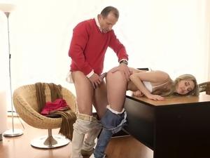 Old man spanks girl first time Stranger in a massive
