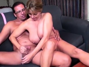 When Mike and Bill coax their sexy neighbor Amber Bach into