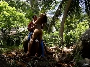 Brunette Lisa De Marco Gets Pussy and Ass Fucked in the Jungle