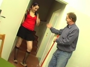 young Victoria porn debut with old man