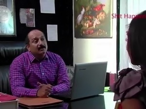 INDIAN boss fuck when she comes for interview