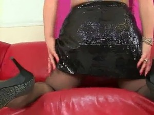 Hot MILF With Big Natural Tits Nylon Show by Dracarys69