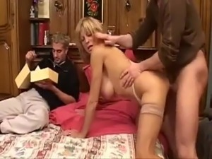 Mature slag with big lips and tits gets some cock