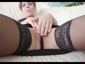 By taking kinky sex poses pale nympho Sasha Zima fingers her wet pussy