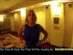 Public cumwalk through hotel lobby !