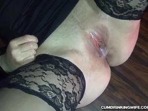 Slutwife gangbanged by over 20 guys at a bar