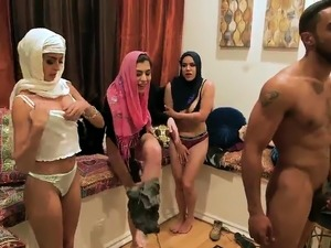 Family night orgy first time Hot arab women try foursome