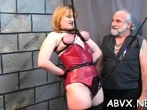 Young playgirl extraordinary bondage