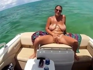 SBB - huge saggy boobs on a small boat