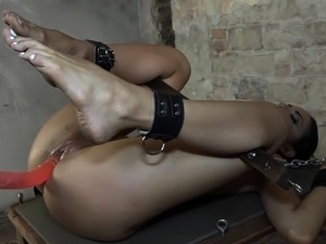 Bound smalltits euro punished by her master