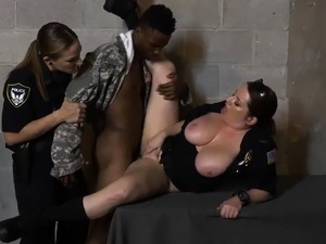 Milf pool fuck and cuckold black cock Fake Soldier Gets