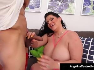 Cuban BBW Angelina Castro Doggy Banged By Latino!