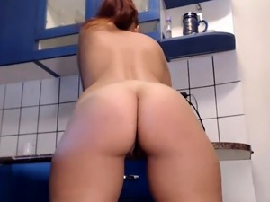 Nude in the kitchen